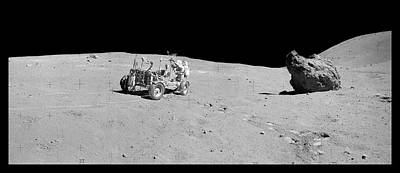 Spacesuit Photograph - Apollo 16 Lunar Rover by Nasa/detlev Van Ravenswaay