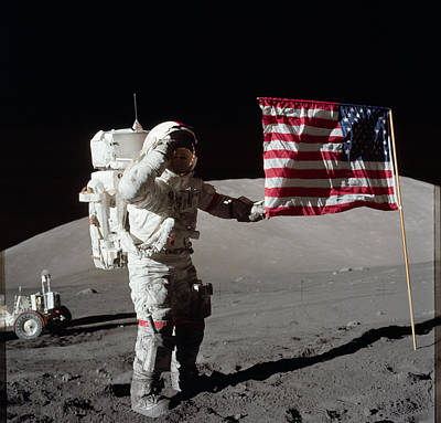 Glister Photograph - Apollo 17 Mission by Celestial Images
