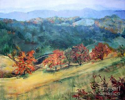 Appalachian Autumn Art Print by Mary Lynne Powers