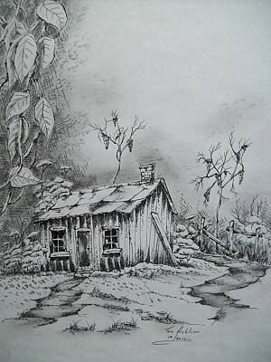 Old Shed Drawing - Appalachian Old Shed by Tom Rechsteiner