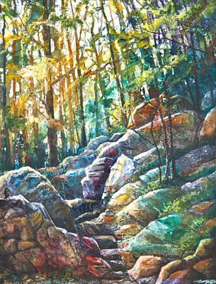 Patricia Mixed Media - Appalachian Trail Up Mt. Tammany by Patricia Allingham Carlson