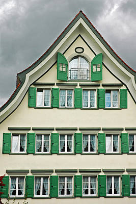 Photograph - Appenzell Switzerland's Famous Windows by Ginger Wakem