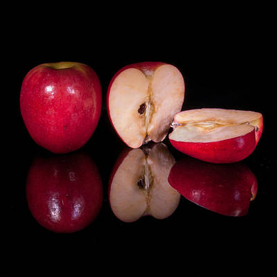 Photograph - Apple And Halves by Fred LeBlanc
