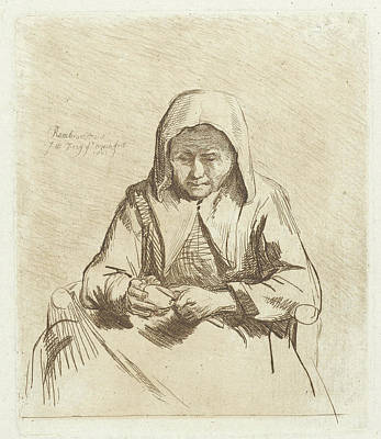 Frey Drawing - Apple Different Woman, Johannes Pieter De Frey by Johannes Pieter De Frey