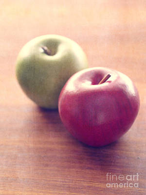 Food And Beverage Royalty-Free and Rights-Managed Images - Apples by Edward Fielding
