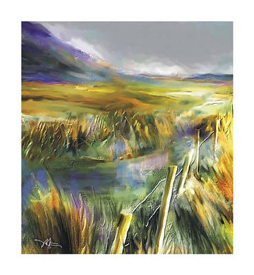 Desolate Digital Art - Approaching Rain  Achill Island Ireland by Bob Salo