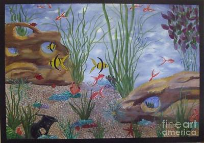 Painting - Aquarium by Debra Piro