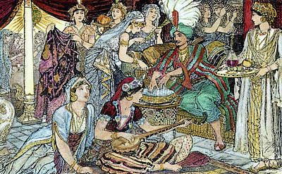 Arabian Nights Harem Art Print by Granger