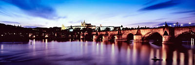 Vltava Photograph - Arch Bridge Across A River by Panoramic Images
