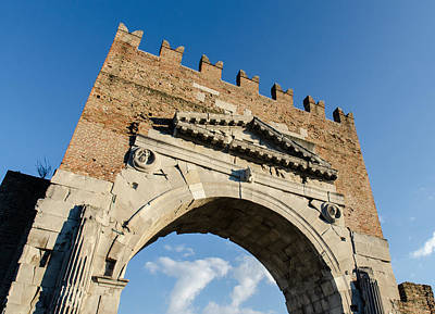 Photograph - Arch Of Augustus by Andrea Mazzocchetti