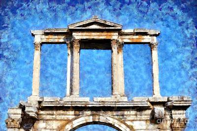 Dome Painting - Arch Of Hadrian by George Atsametakis