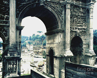 Photograph - Arch Of Septimius 203 B.c. Rome Italy by Merton Allen
