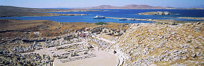 Ancient Civilization Photograph - Archaeological Site On An Island by Panoramic Images