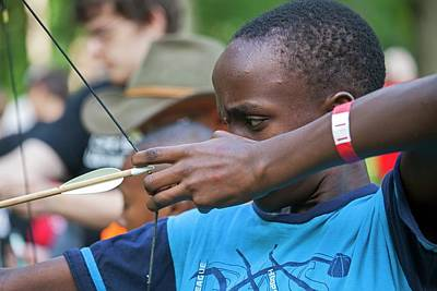 Boy Scouts Photograph - Archery by Jim West