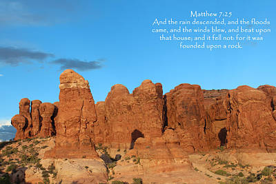 Mountain Photograph - Arches Mat 7-25 by Nelson Skinner