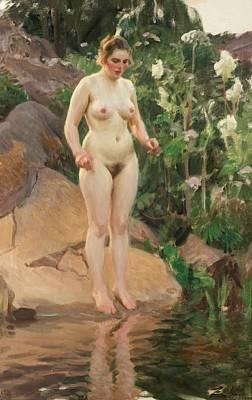 Nudes Digital Art - Archipelago Flower by Anders Zorn