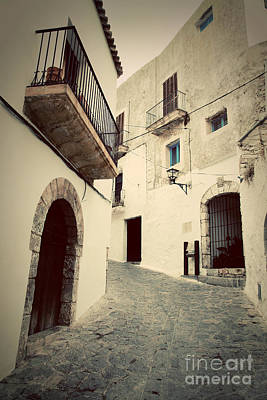 Mannequin Dresses Rights Managed Images - Architecture of old city of Ibiza Spain Royalty-Free Image by Michal Bednarek