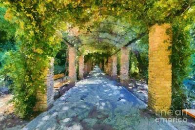 Garden Painting - Archway IIi by George Atsametakis