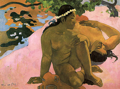 Af Vogue Rights Managed Images - Are You Jealous Royalty-Free Image by Paul Gauguin