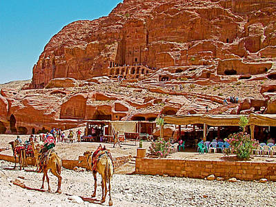 Area In Front Of Tombs Of The Kings In Petra-jordan Art Print by Ruth Hager