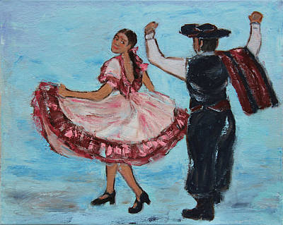 Painting - Argentinian Folk Dance by Xueling Zou