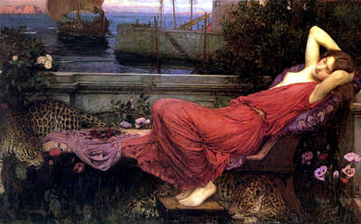 Minotaur Painting - Ariadne by John William Waterhouse