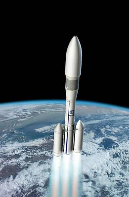 Ariane 6 Rocket Launch Art Print by European Space Agency/d. Ducros