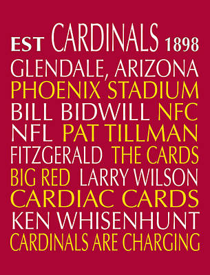 Digital Art - Arizona Cardinals by Jaime Friedman
