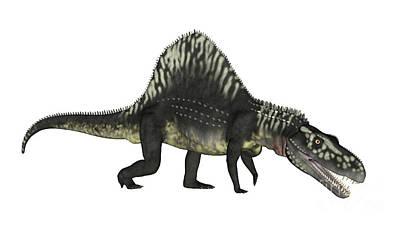 Crocodile Digital Art - Arizonasaurus Dinosaur by Elena Duvernay