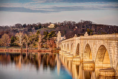 Photograph - Arlington Memorial Bridge by Walt  Baker