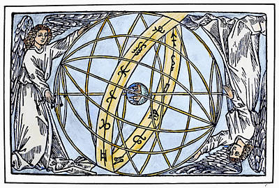 Cosmology Painting - Armillary Sphere, 1509 by Granger