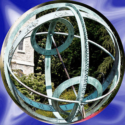 Charting Photograph - Armillary Sphere by Tom Gari Gallery-Three-Photography