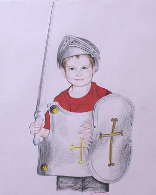 Drawing - Armor Of God by Kathy Weidner