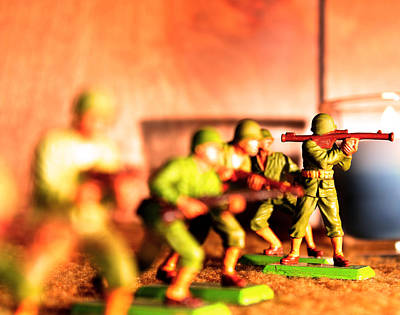 Photograph - Army Men  by Jon Baldwin  Art