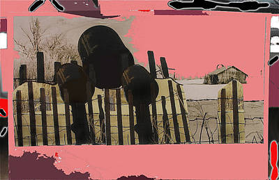 Food And Flowers Still Life - Art Homage Andrew Wyeth Bucket Fence Collage Near Aberdeen South Dakota 1965-2012 by David Lee Guss