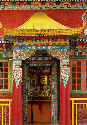 Monastic Photograph - Art In A Buddhist Monastery, Sikkim by Jaina Mishra