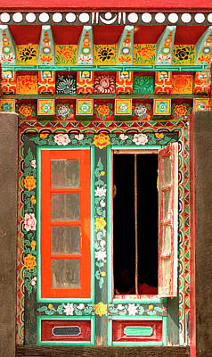 Art In Buddhist Monastery Architecture Art Print by Jaina Mishra