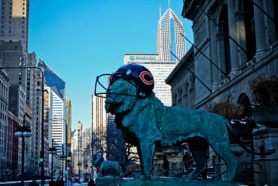 Art Institute Of Chicago Lions Art Print by Anthony Doudt