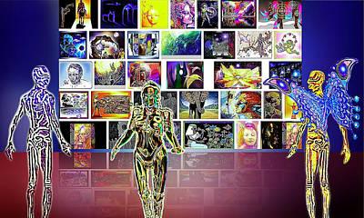 Mosaic Mixed Media - Art  Panorama  by Hartmut Jager