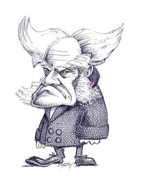 Arthur Schopenhauer Art Print by Gary Brown