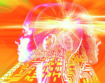 Artificial Intelligence Art Print by Alfred Pasieka/science Photo Library