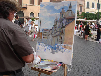 Artist At Work Photograph - Artist At Work Rome by Ylli Haruni