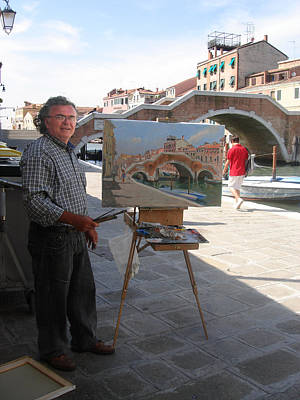 Artist At Work Photograph - Artist At Work Venice by Ylli Haruni