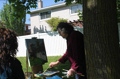 Outdoor Wall Art - Photograph - Artist At Work by Ylli Haruni