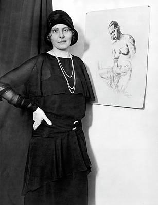 Artist Caroline Mytinger Art Print by Underwood Archives