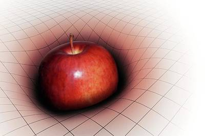 Spacetime Photograph - Artwork Of Apple Warping Spacetime by Mark Garlick
