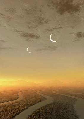 Exoplanet Photograph - Artwork Of Exoplanet Kepler 452b by Mark Garlick