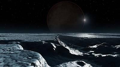 Artwork Of Pluto Seen From Charon Art Print