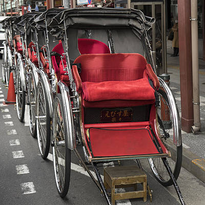 Photograph - Asakusa Rickshaws In Tokyo by For Ninety One Days