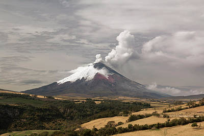 2010s Photograph - Ash Plume Rising From Cotopaxi Volcano by Dr Morley Read